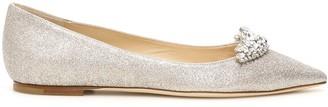 Jimmy Choo Romy Crystal Embellished Flat Shoes