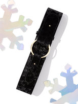 New York & Co. Velvet O-Ring Belt - Black