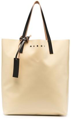 Marni Two-Tone Logo Tote Bag