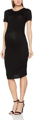 Dorothy Perkins Maternity Women's Maternity Black Short Sleeve Bodycon Dress 18