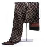 Hip Mall 100% Double Layer Silk Scarves Men Neckerchief