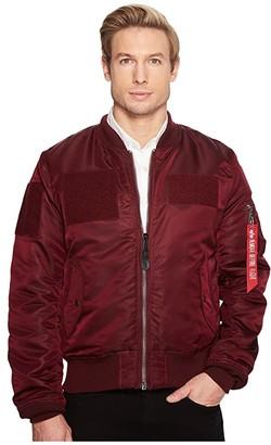 Alpha Industries MA-1 Flex Flight Jacket Core Fit (Maroon) Men's Clothing