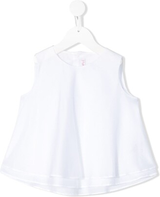 Il Gufo Half-Button Sleeveless Top