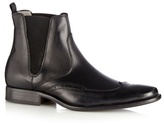 J By Jasper Conran Designer Black Leather Brogue Chelsea Boots