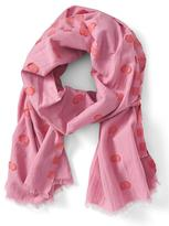 Banana Republic Textured Polka Dot Scarf