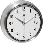 Infinity Instruments Retro Metal Wall Clock - Silver