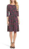 Leota Women's Belted Print Jersey A-Line Dress