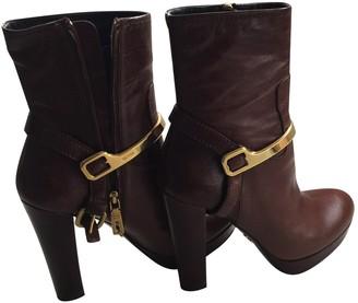 Prada Brown Fur Ankle boots
