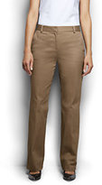 Classic Women's Petite Mid Rise Chino Trouser Pants-French Walnut