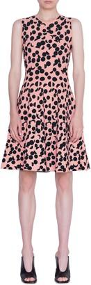 Akris Punto Luna Dot Jacquard Fit & Flare Dress
