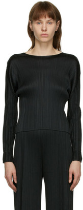 Pleats Please Issey Miyake Black Monthly Colors October Pullover
