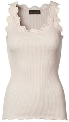 Rosemunde Silk Top W Lace Soft Rose - S