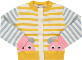 Stella McCartney Striped Babygirl Cardigan With Mouses