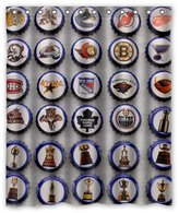 "Custom It cover NHL hockey Design stall mildew resistant Waterproof Bathroom Fabric Shower Curtain 60"" x 72"""