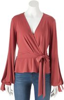 JLO by Jennifer Lopez Women's Faux-Wrap Top
