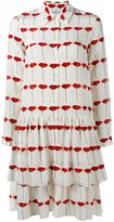 Osman tiered poppy print dress