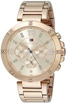 Tommy Hilfiger Women's 1781533 Sport Lux Analog Display Quartz Rose Gold Watch