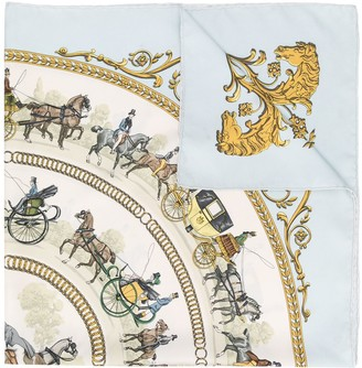 Hermes Pre-Owned Horse-Print Scarf