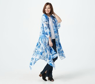 G.I.L.I. Got It Love It G.I.L.I. Petite Printed Duster Kimono