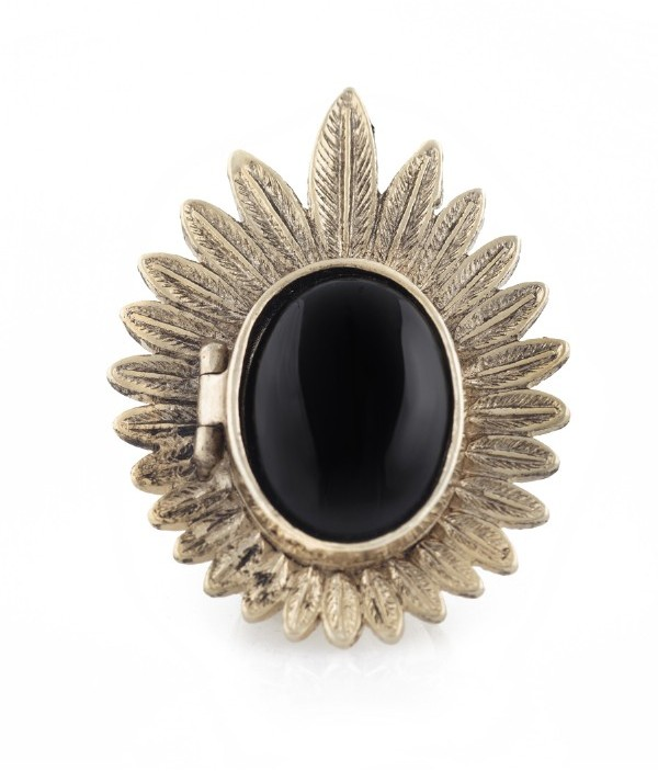 House Of Harlow Feather Locket Ring
