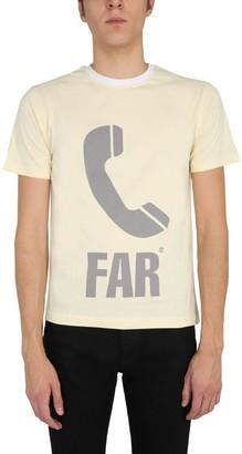 Telfar Phone Icon Print Crewneck T-Shirt