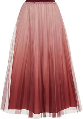 RED Valentino Pleated Organza Midi Skirt
