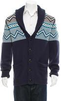 Burberry Chunky-Knit Shawl Collar Cardigan