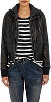 """R 13 Women's Leather """"Flight"""" Hooded Jacket"""