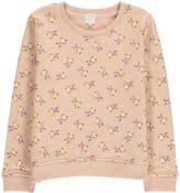 Little Karl Marc John Sparkly Pop-Corn Print Fleece Sweatshirt