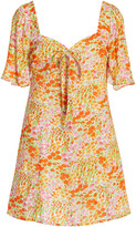 Thumbnail for your product : HVN Women's Mini Emily Printed Crepe Dress - Floral - Moda Operandi