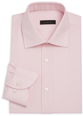 Saks Fifth Avenue Travel Micro Check Dress Shirt