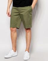 Asos Skinny Tailored Mid Length Shorts In Light Khaki