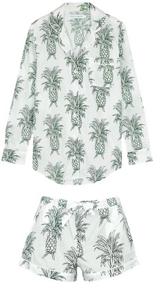 Desmond & Dempsey Howie Printed Cotton Pyjama Set