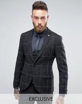Noose & Monkey Super Skinny Harris Tweed Suit Jacket