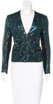 Maje Embellished Collarless Blazer