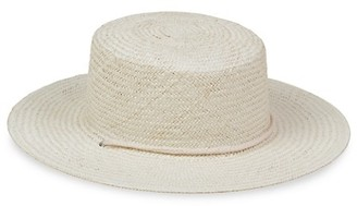 LACK OF COLOR Wanderer Woven Wide-Brim Boater Hat