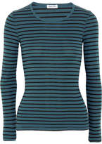 Splendid Venice Striped Jersey Top - Teal