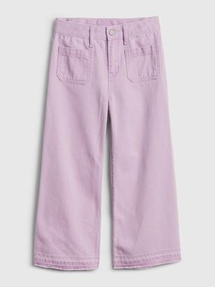 Gap Kids High Rise Wide-Leg Crop Jeans