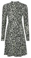 Dorothy Perkins Womens Monochrome Printed High Neck Swing Dress