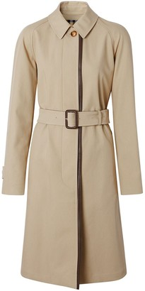 Burberry leather-trim car coat