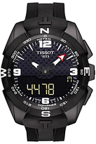 Tissot T0914204705701 T-touch Expert Solar Chronograph Altimeter Rubber Strap Watch, Black