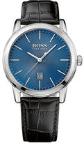 HUGO BOSS Mens Classic 1 Leather Strap Watch