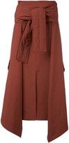 Marni tied sweater layered skirt - women - Polyester - 40