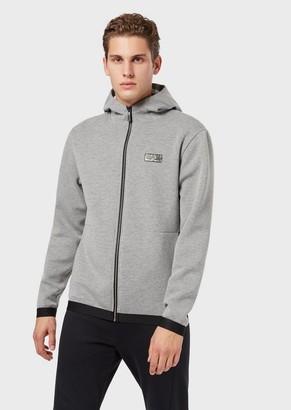 Emporio Armani Hooded, Zippered Sweatshirt