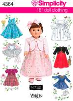 Simplicity Sewing Pattern 4364 Doll Clothes, One