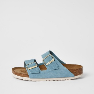 River Island Birkenstock light blue Arizona sandals