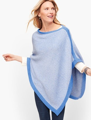 Talbots Blue Links Poncho