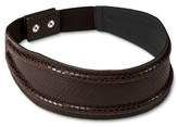 Linea Pelle Women's Snake Print Belt with Back Closure - Brown