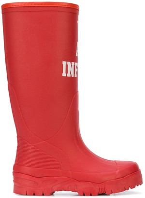 Undercover Slogan Print Rain Boots