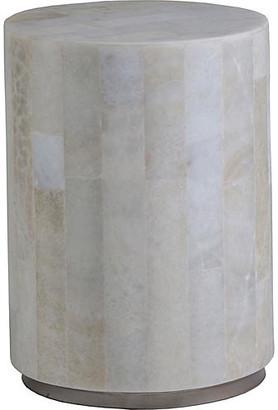 "Artistica Greta Spot Side Table - White Onyx 14"""